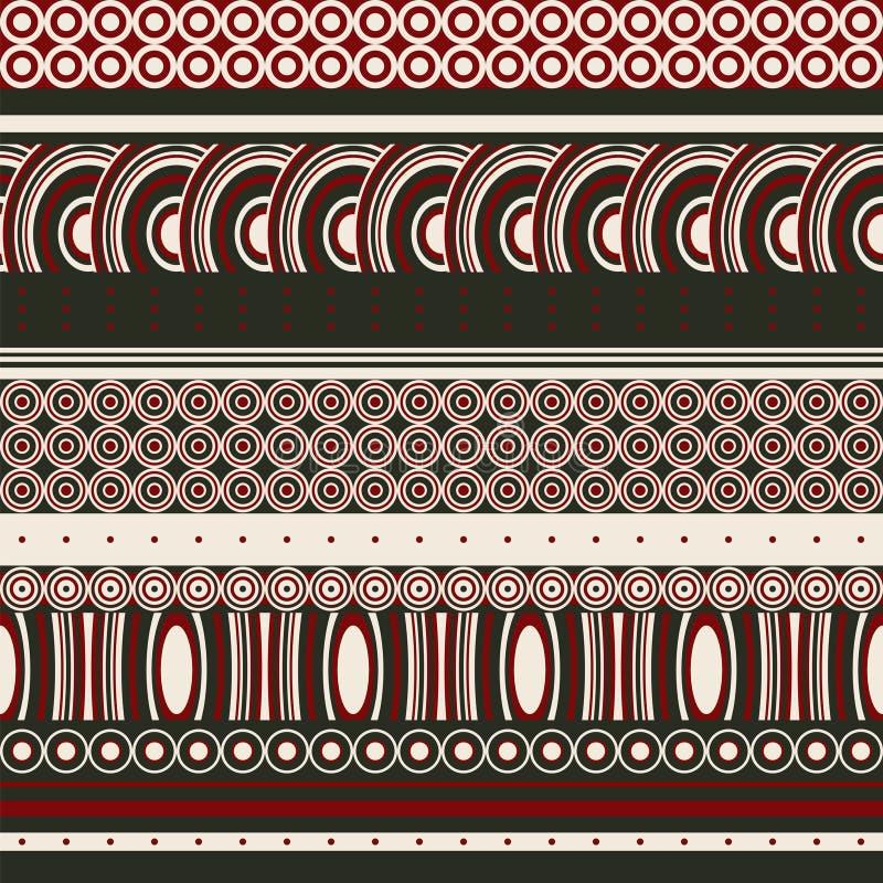 Bezszwowy tło z kontrastować koncentrycznych okręgi i stylów owale royalty ilustracja