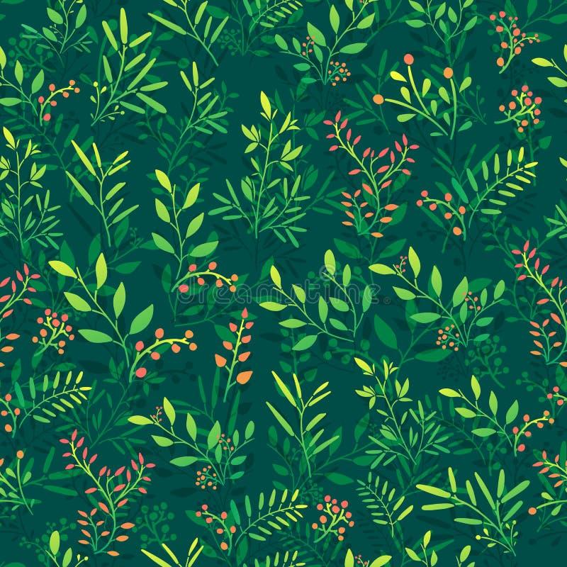 Download Bezszwowy Tło Z Kwiecistym Wzorem Gałązki Ilustracja Wektor - Ilustracja złożonej z kolor, arte: 57667292