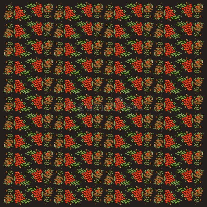 Bezszwowy tło z rowanberry obraz stock