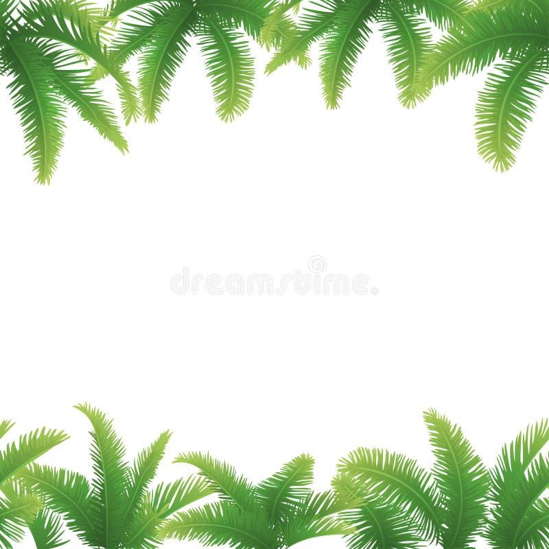 Bezszwowy tło, palma liście ilustracji