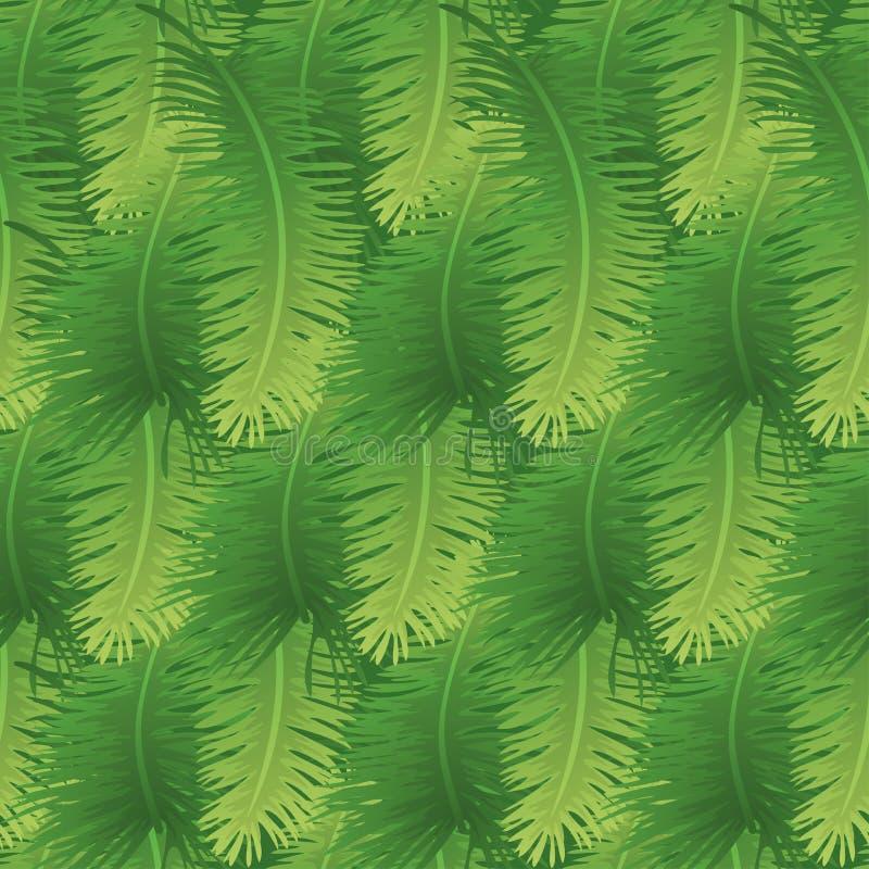 Bezszwowy tło, palma liście royalty ilustracja