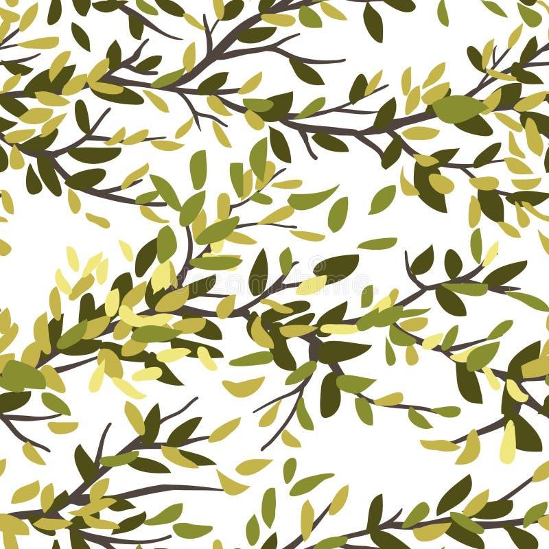 Download Bezszwowy tła drzewo ilustracja wektor. Ilustracja złożonej z rośliny - 57669466