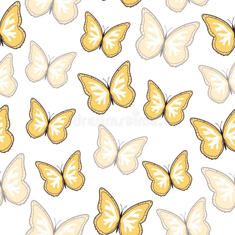 Bezszwowy t?o od jaskrawych motyli zdjęcia royalty free