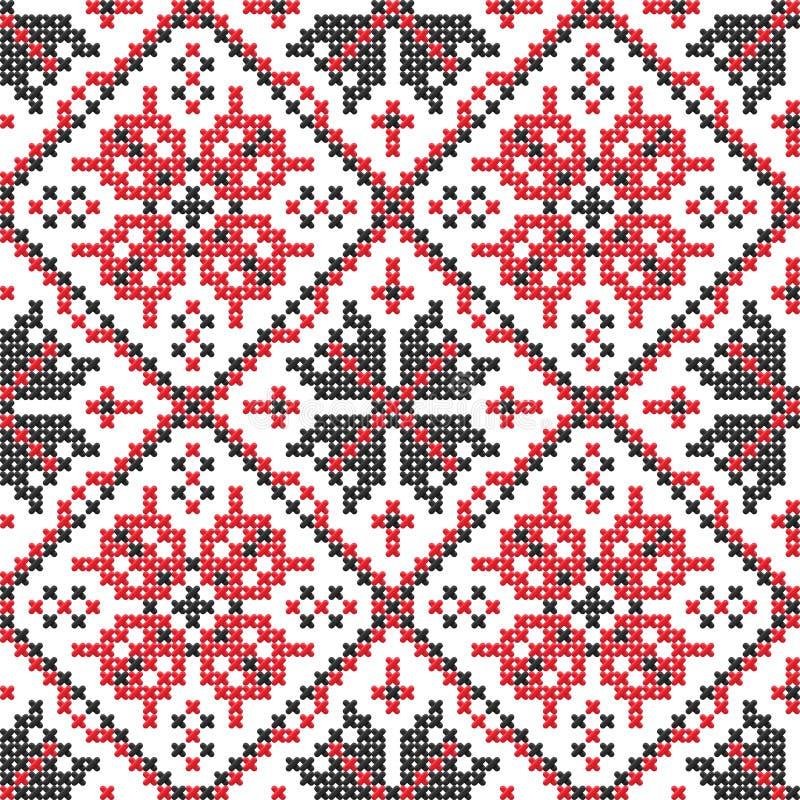 bezszwowy tekstury ukrainian wektor royalty ilustracja