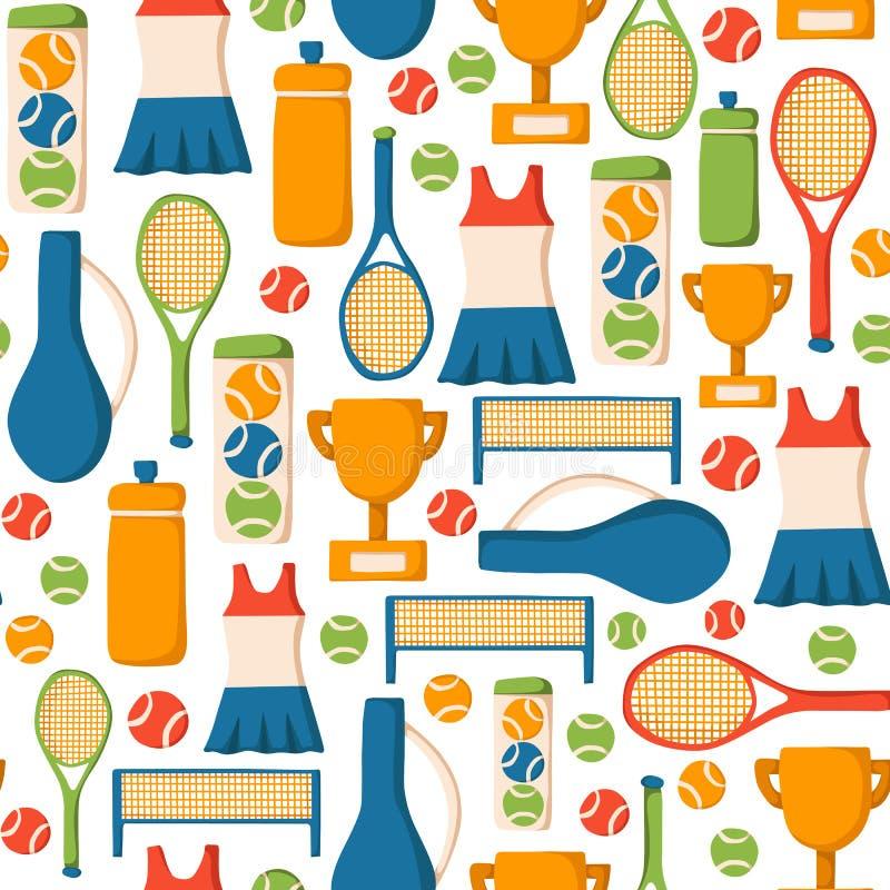 Bezszwowy tenisowy tło ilustracji