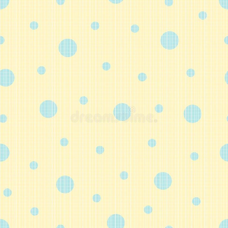 Bezszwowy textured polki kropki wzór royalty ilustracja