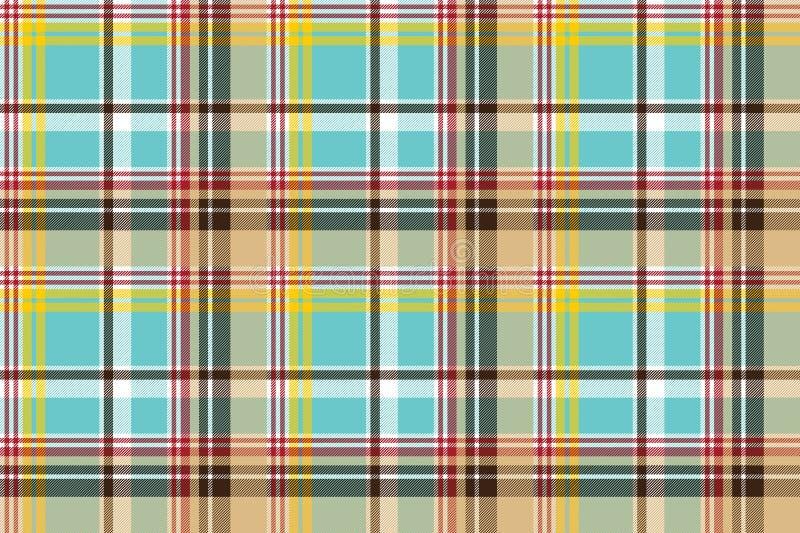 Bezszwowy tkaniny tekstury szkockiej kraty błękit Madras ilustracji