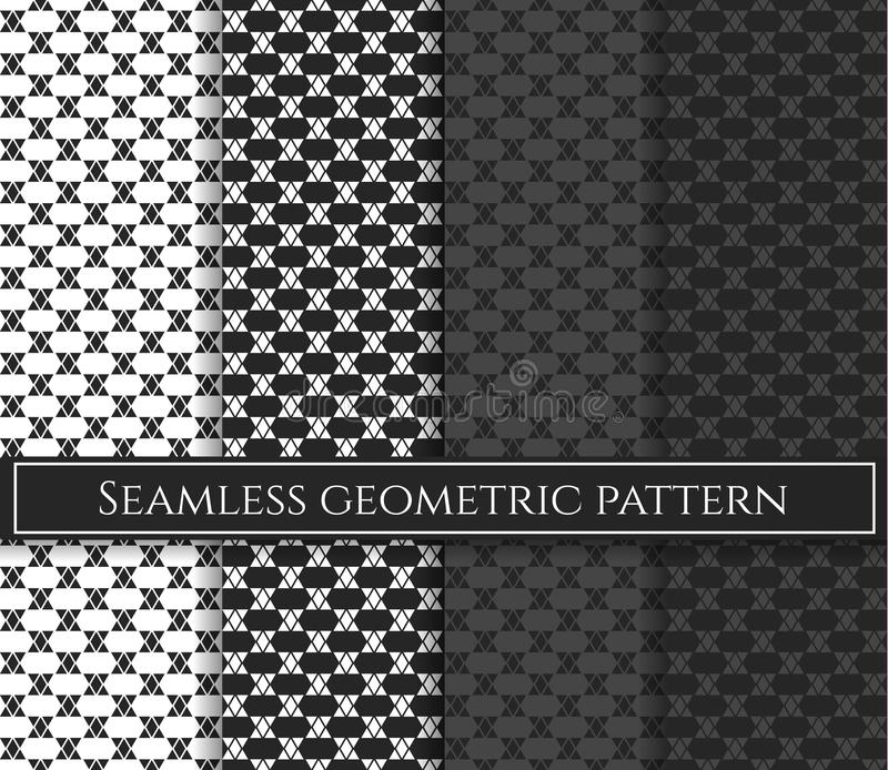 Bezszwowy trójboka wektoru wzór Abstrakcjonistyczny geometryczny wzór w wieloskładnikowych kolorach Rhombus tło Lozenge wzór ilustracja wektor