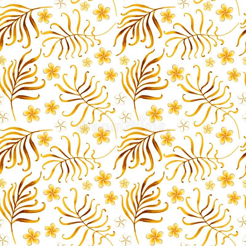 Bezszwowy tropikalny ornament royalty ilustracja
