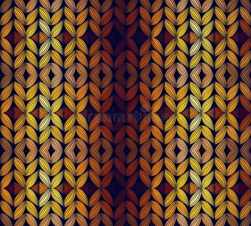 Bezszwowy trykotowy abstrakta wzór ilustracji