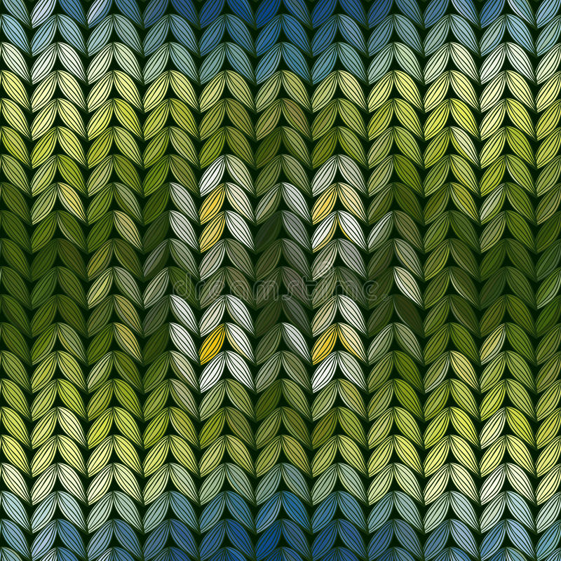 Bezszwowy trykotowy abstrakta wzór ilustracja wektor
