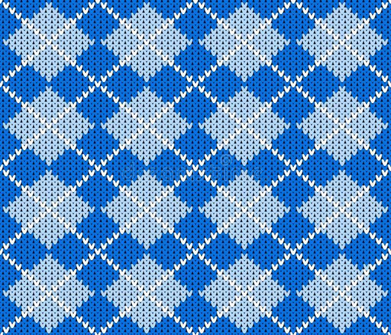 Bezszwowy trykotowy argyle puloweru tło ilustracji