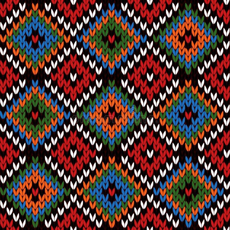 Bezszwowy trykotowy multicolor wzór ilustracja wektor