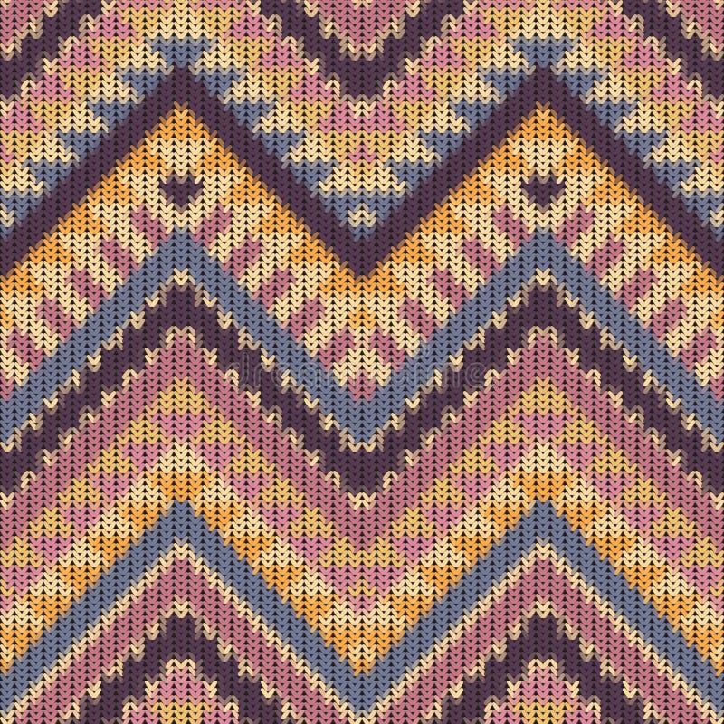Bezszwowy trykotowy navajo wzór royalty ilustracja