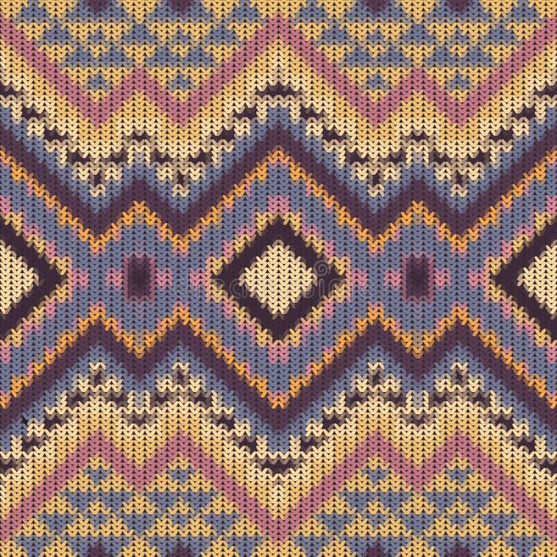 Bezszwowy trykotowy navajo wzór ilustracja wektor