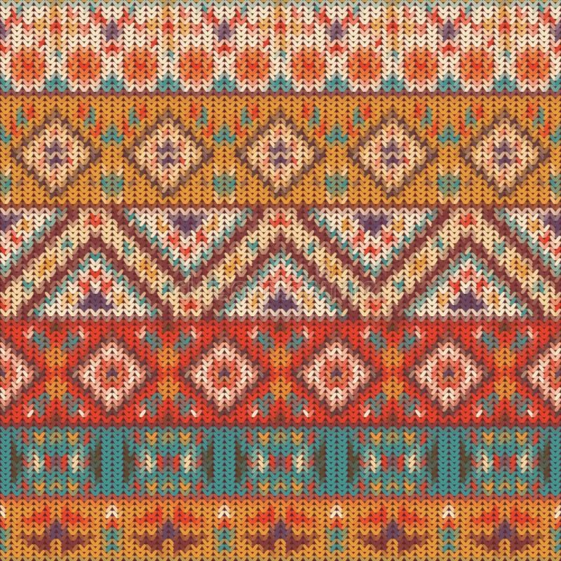 Bezszwowy trykotowy navajo wzór ilustracji