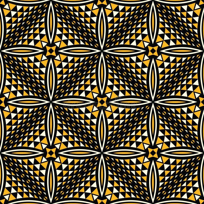 Bezszwowy wektorowy geometrical deseniowy projekt ilustracja wektor