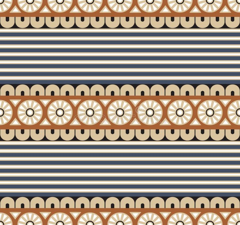 Bezszwowy wektorowy geometrical wzór dla tekstylnego projekta royalty ilustracja