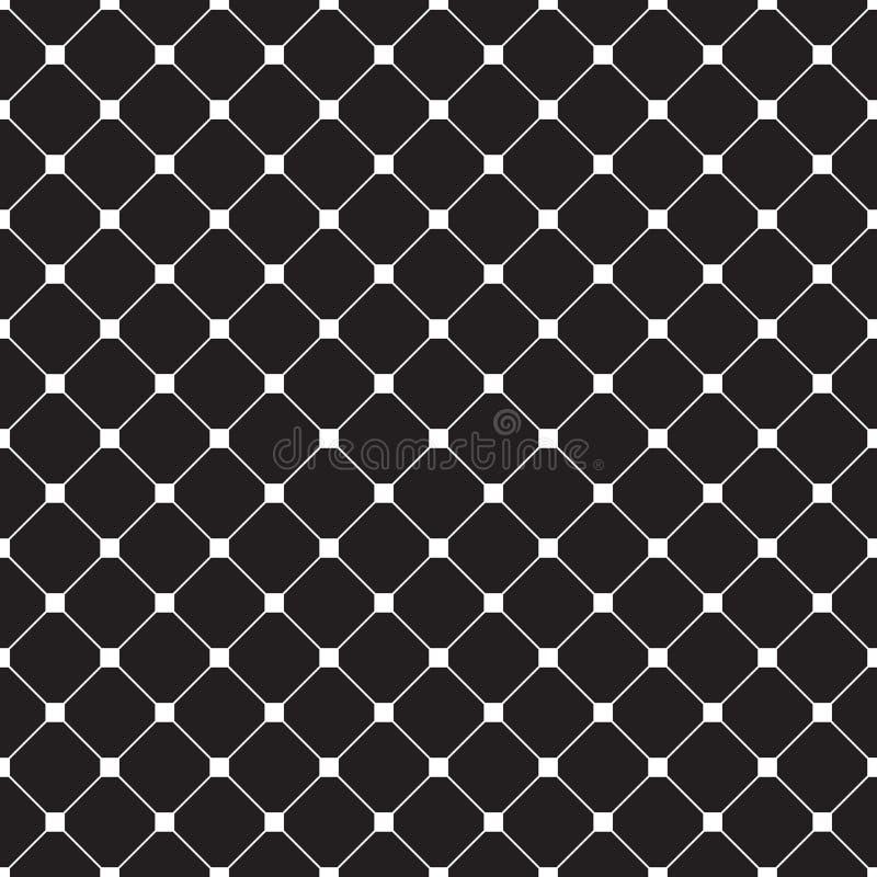 Bezszwowy wektorowy geometryczny dachówkowy tekstura wzoru tło royalty ilustracja