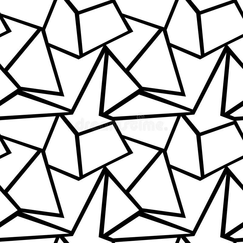 Bezszwowy Wektorowy Geometryczny wzór ilustracji