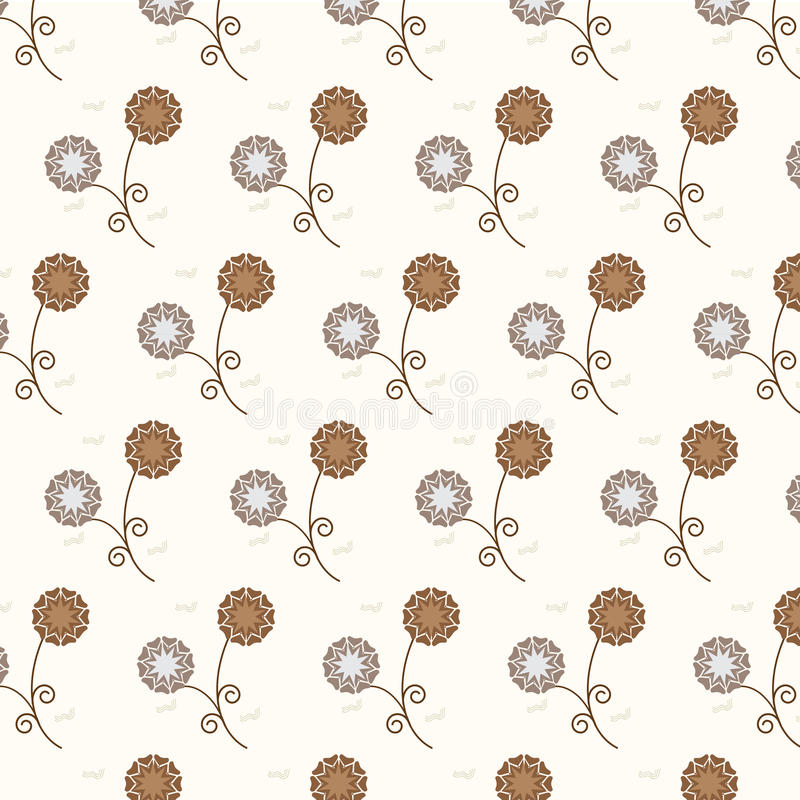 Bezszwowy wektorowy kwiecisty deseniowy tło ilustracji