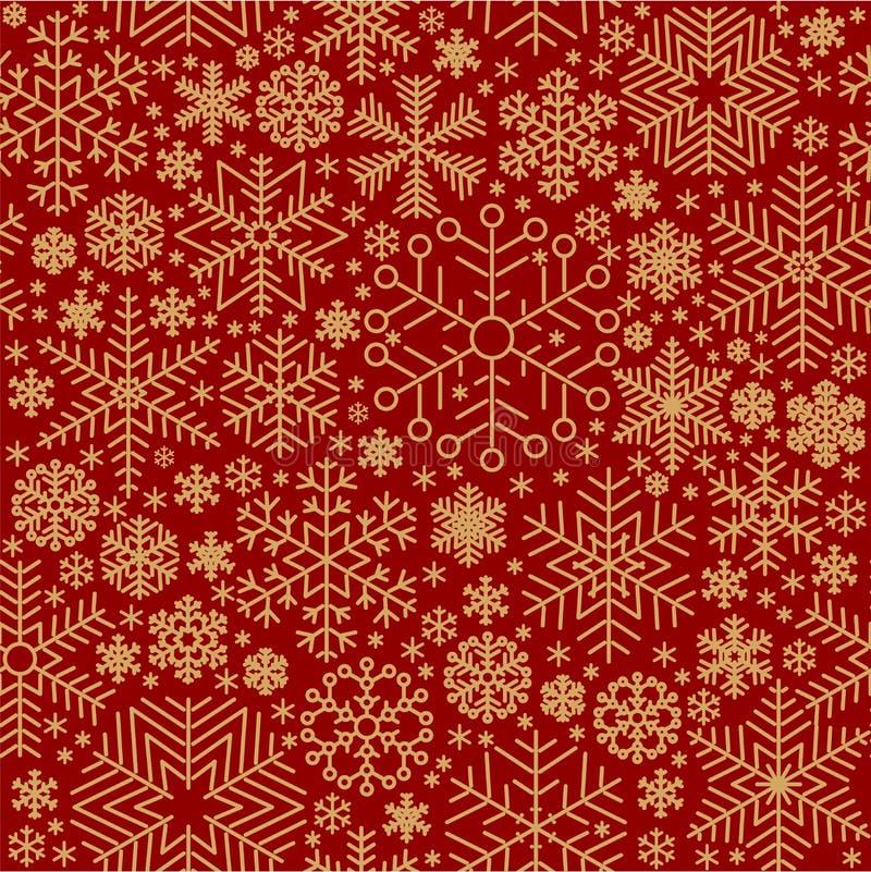 Bezszwowy wektorowy płatek śniegu ilustracji