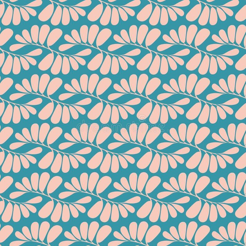 Bezszwowy wektorowy powtórka wzór pastelowych menchii tropikalny palmowy geometryczny projekt Cukierki powierzchni wzoru projekt ilustracja wektor