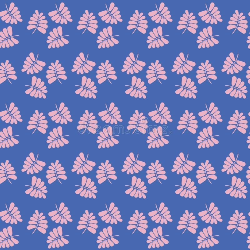 Bezszwowy wektorowy powtórka wzór różowy tropikalny palmowy geometryczny projekt Cukierki powierzchni wzoru projekt ilustracji