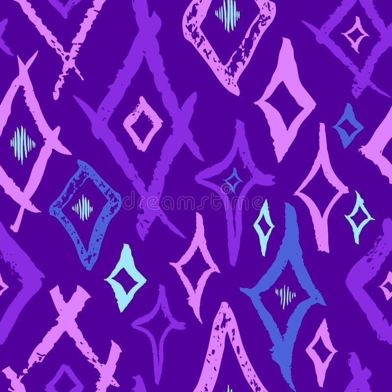 Bezszwowy wektoru muśnięcia uderzenia wzór Czarny i biały prostych geometrycznych falistych linii tła abstrakcjonistyczny projekt royalty ilustracja