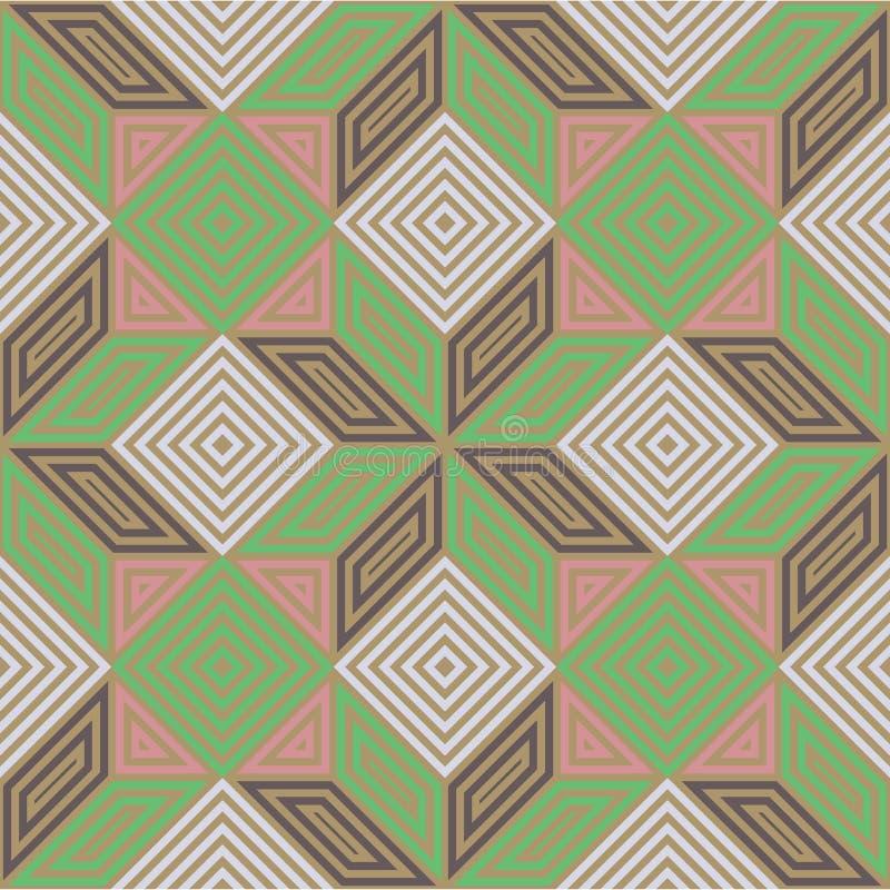 Bezszwowy wektoru wzór, roczników pastelowi colours, kwadratowa mozaika obraz royalty free