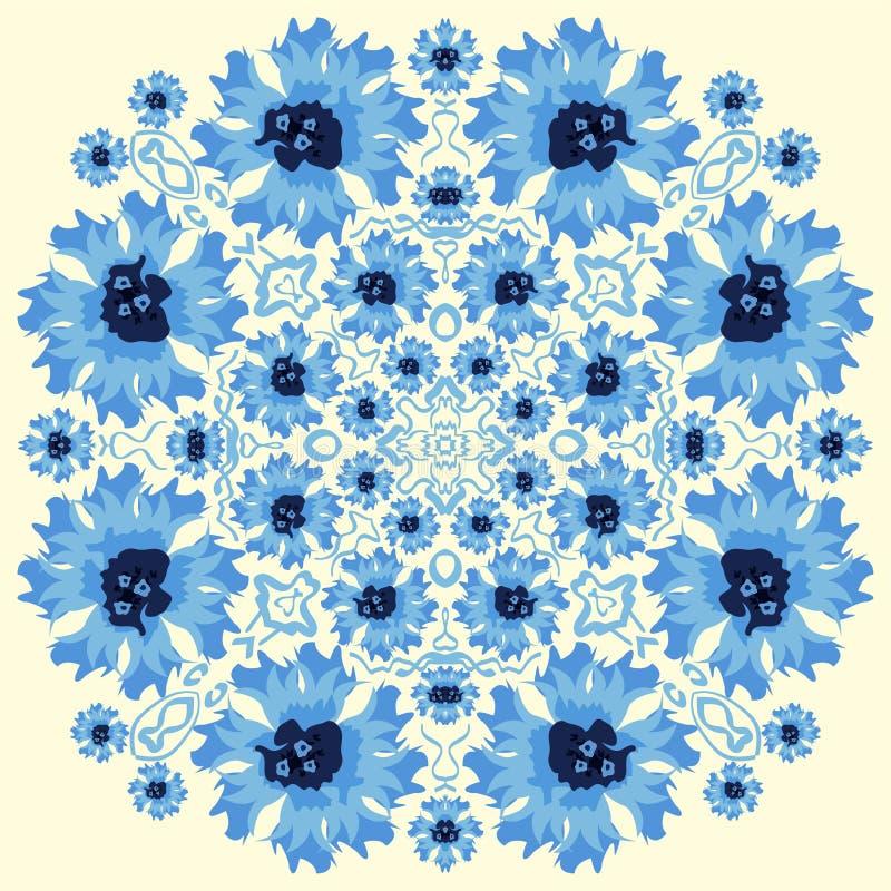 Bezszwowy wektoru wzór z abstrakcjonistycznymi kwiatami tło rysująca kwiecista ręka ilustracja wektor