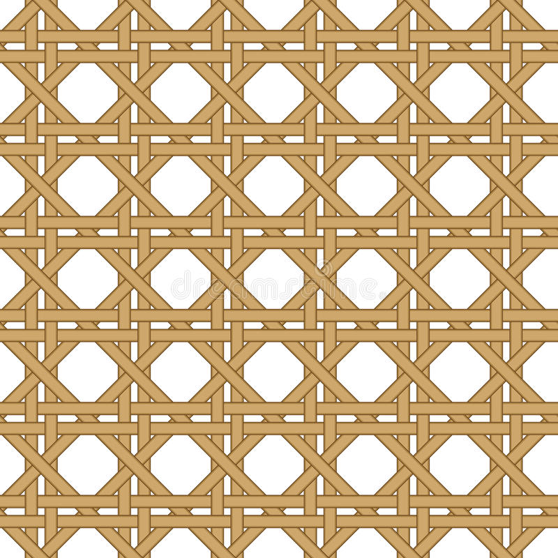 Bezszwowy wicker wyplatający tekstury tło ilustracji