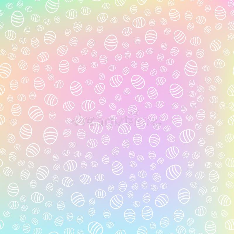 Bezszwowy Wielkanocnych jajek wzór na kolorowym fantazji tle Wakacje i wydarzenia poj?cie r?wnie? zwr?ci? corel ilustracji wektor ilustracja wektor