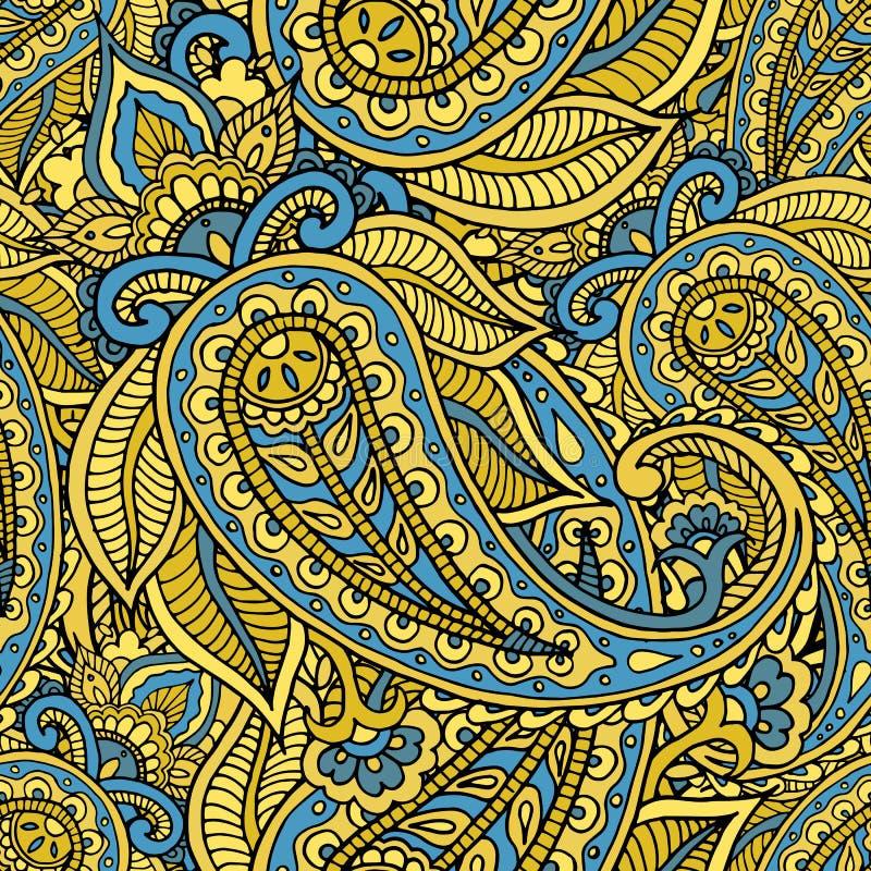 Bezszwowy wielostrzałowy deseniowy składać się z barwiony wzoru buta ilustracja wektor