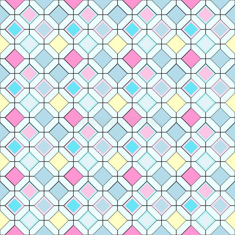 Bezszwowy wielostrzałowy wzór barwiący rhombuses royalty ilustracja