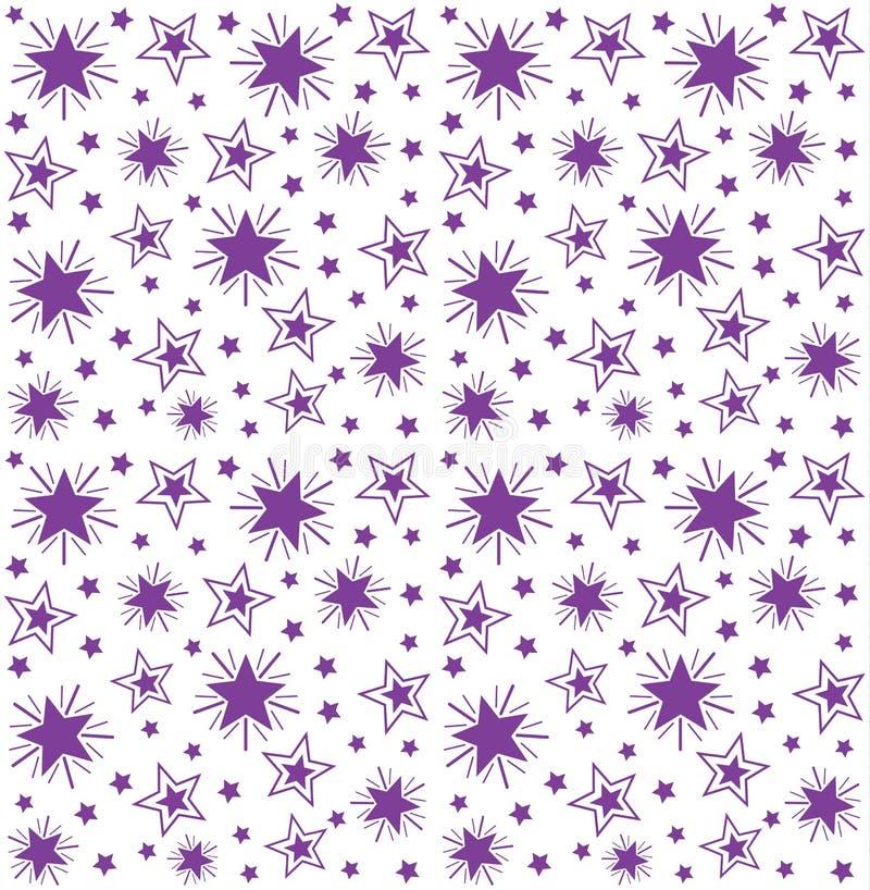 Bezszwowy wielostrzałowy wzór gwiazdy royalty ilustracja