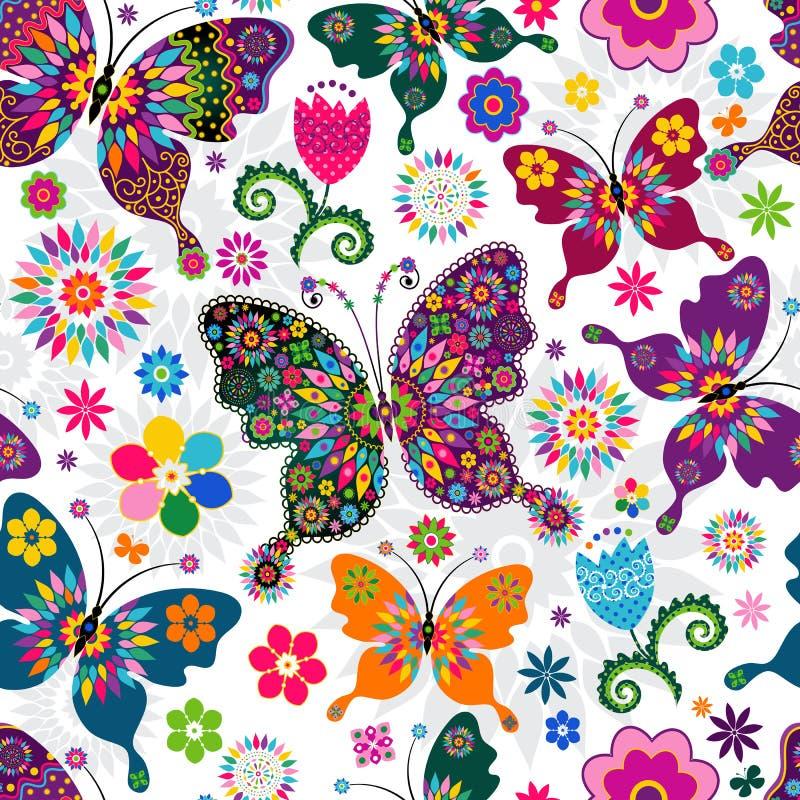 Bezszwowy wiosna wzór royalty ilustracja
