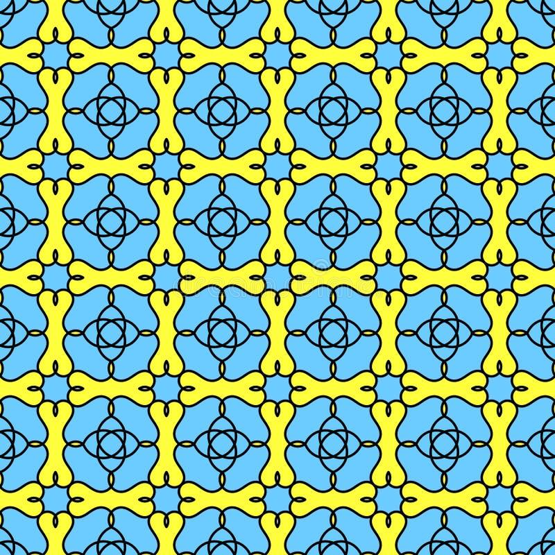 Bezszwowy witrażu kwiatu tło ilustracji