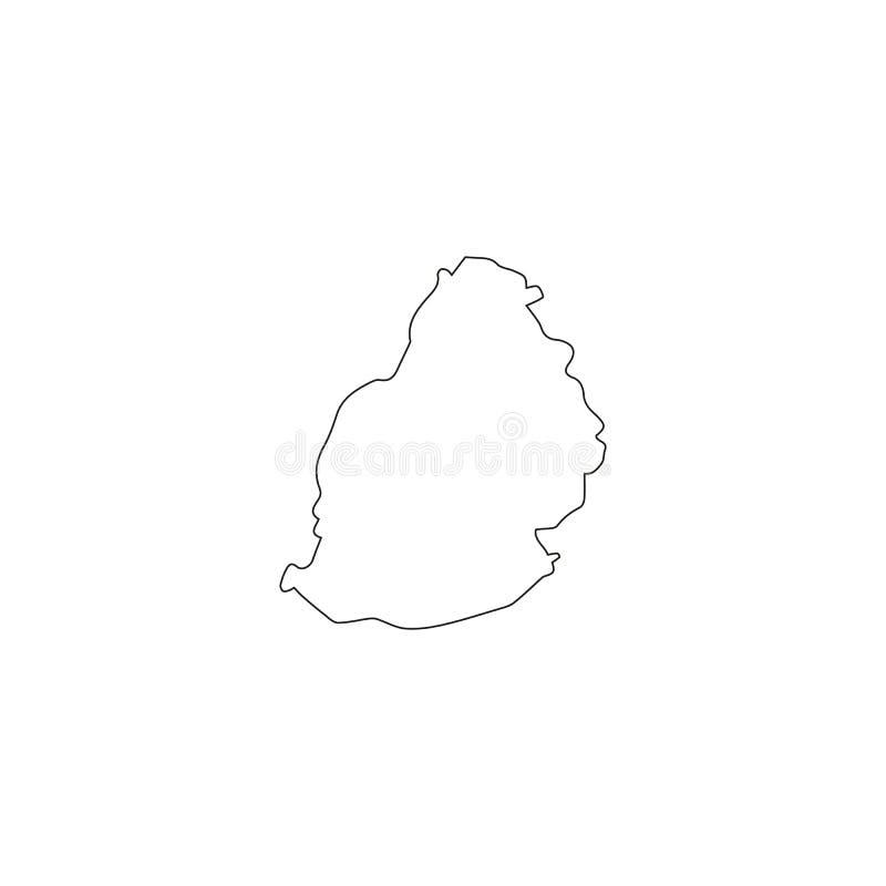 Bezszwowy wzór wypełniający z mapami mauritus Białe sylwetki na zielonym tle ilustracja wektor