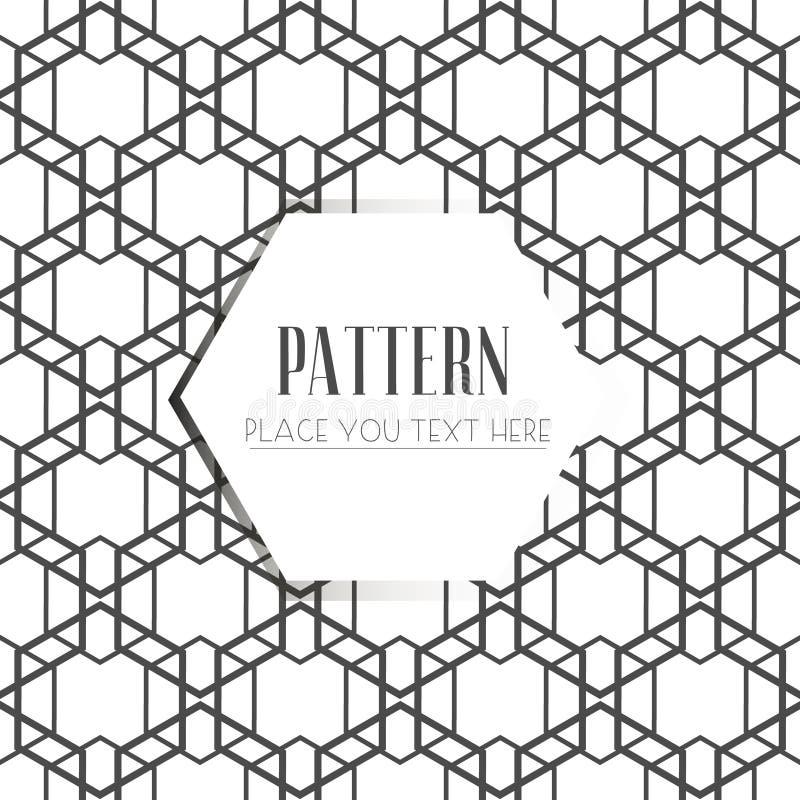 Bezszwowy wzór, abstrakcjonistyczny geometryczny tło, czarny i biały lampasy, przeplata wykłada royalty ilustracja