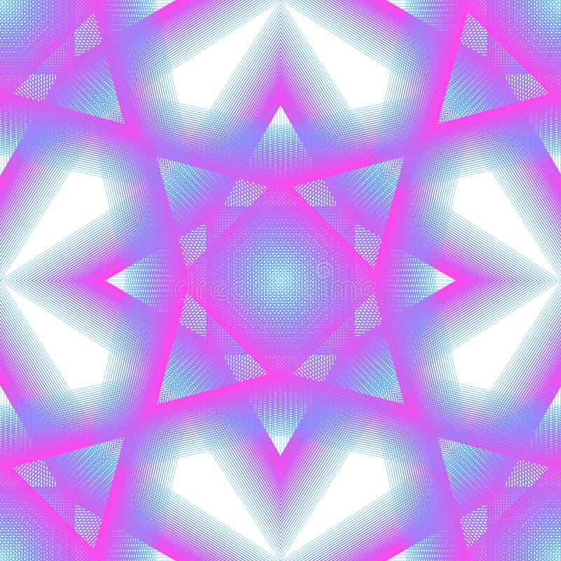 Bezszwowy wzór abstrakcjonistyczny neonowy element linie i trójboki royalty ilustracja