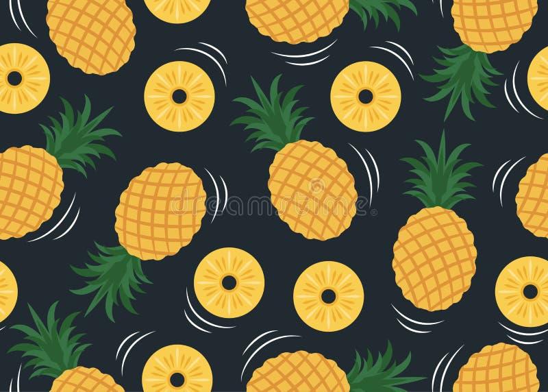Bezszwowy wzór ananasa wzór royalty ilustracja