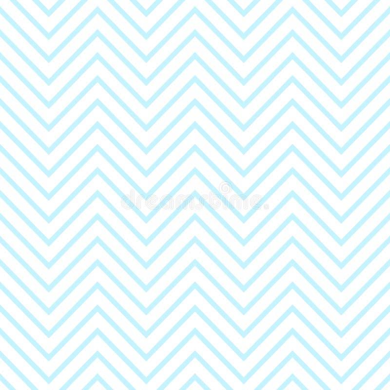 Bezszwowy wzór błękita zygzag wizerunki Ilustracja dla ch?opiec przy dziecko prysznic przyj?ciem T?o dla wita? lub zaproszenia ka royalty ilustracja