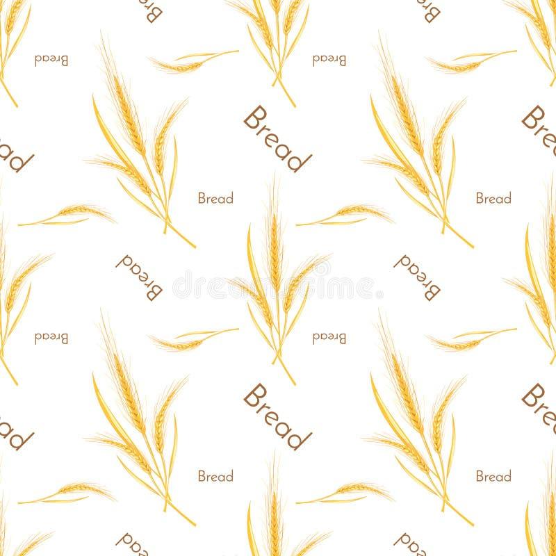 Bezszwowy wzór banatka i chleb ilustracja wektor