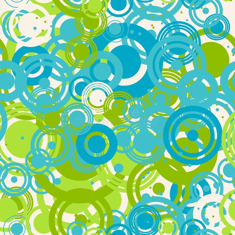 Bezszwowy wzór barwioni pierścionki ilustracja wektor