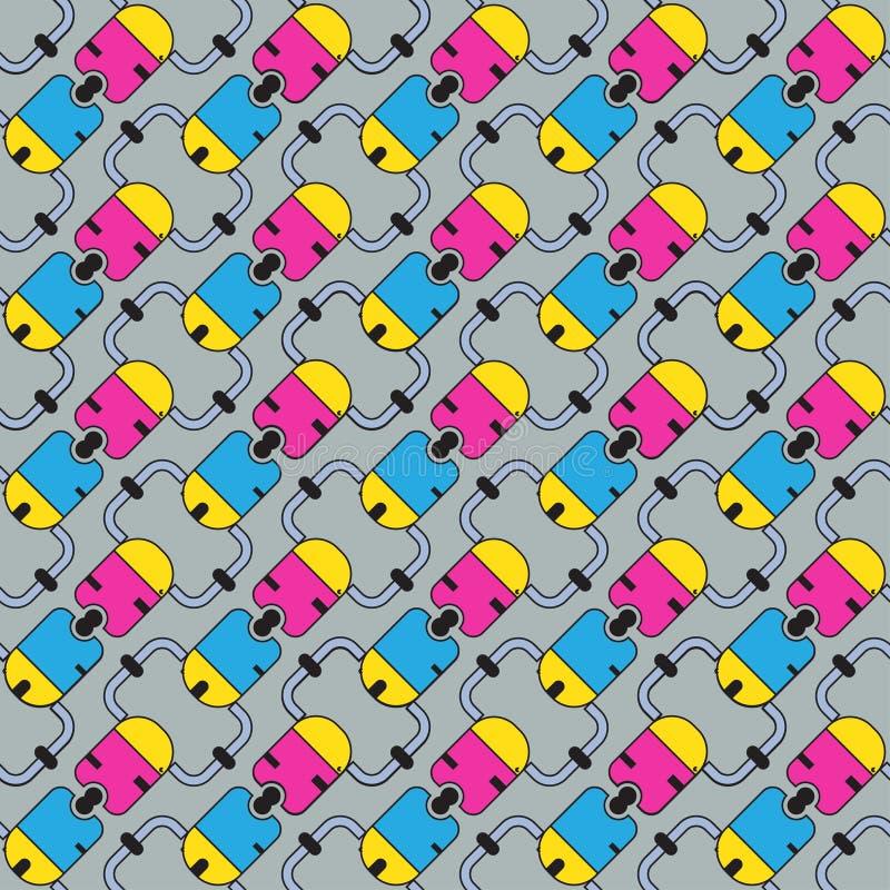Bezszwowy wzór barwiony ilustracja wektor