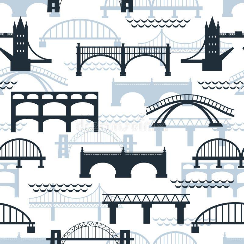 Bezszwowy wzór bridżowe sylwetki ilustracji