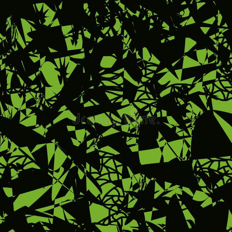 Bezszwowy wzór chaotically rozrzuceni punkty i linie ilustracja wektor