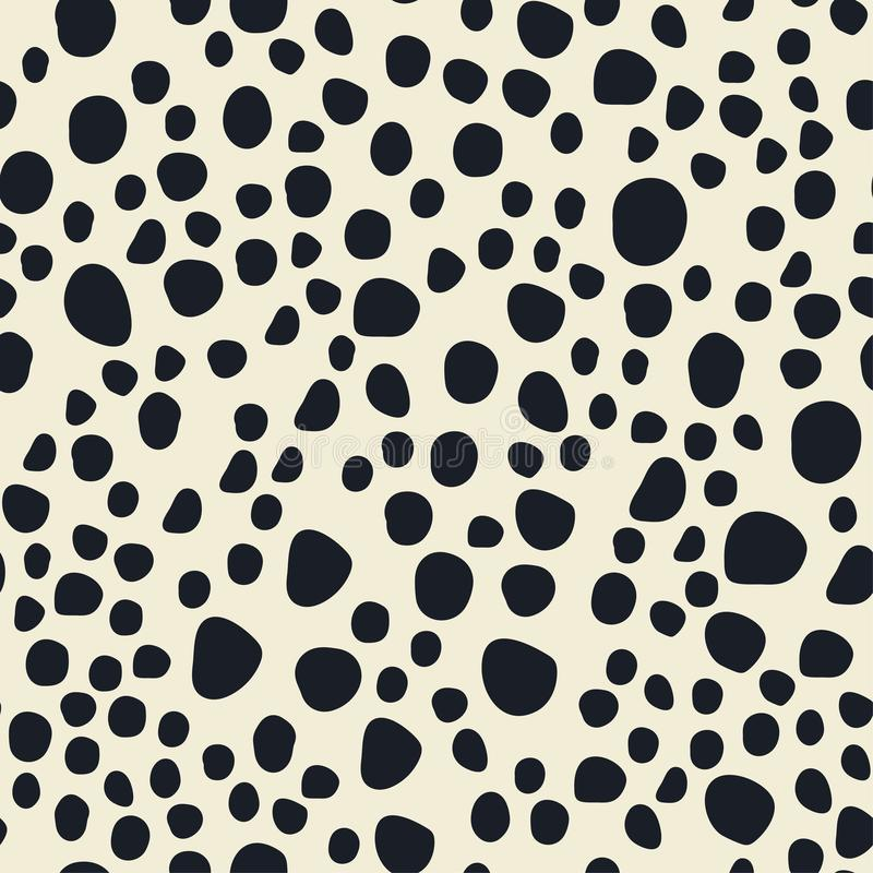Bezszwowy wzór dalmatian punkty ilustracja wektor