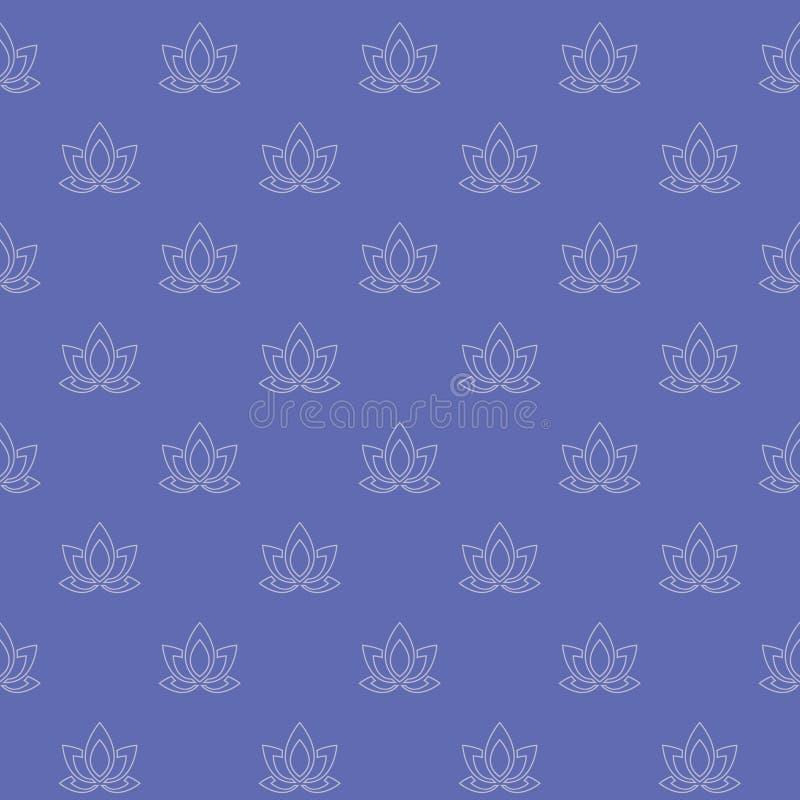 Bezszwowy wzór eleganccy minimalistyczni abstrakcjonistyczni płatki ilustracja wektor